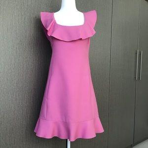 Ruffled Valentino pink dress